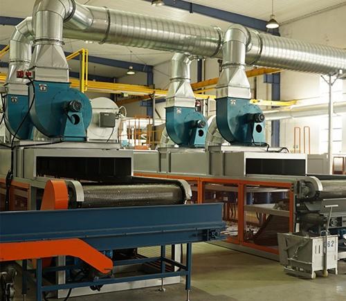 Forno de cura e combustão de camada dupla com revestimento de zinco de 18 metros FGG1812